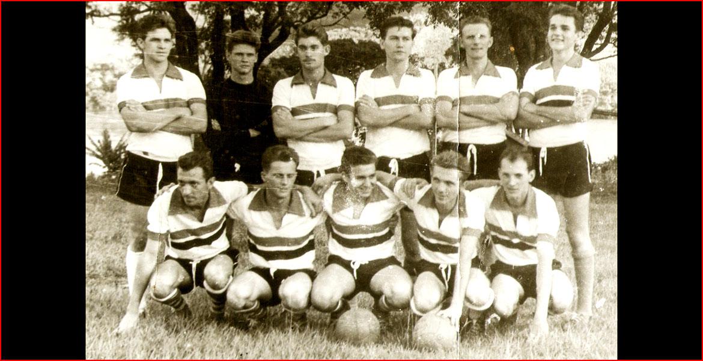 De pé: Lauro, Cascalho, Lacy, Gilberto, Pipo e Agostinho. Sentados: Celso, Renato, Mauro, Zeca e Arno.