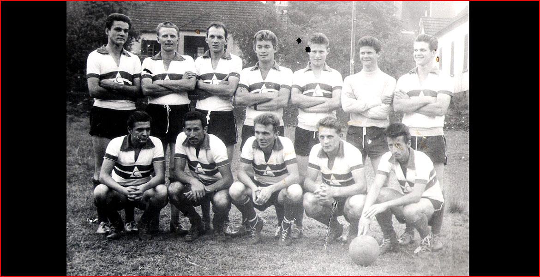 De pé: Agostinho, Pipo, Arno, Lacy, Luciano, Lauro. Sentados: Mauro, Silvestre, Zeca, Armando e Jocenito.
