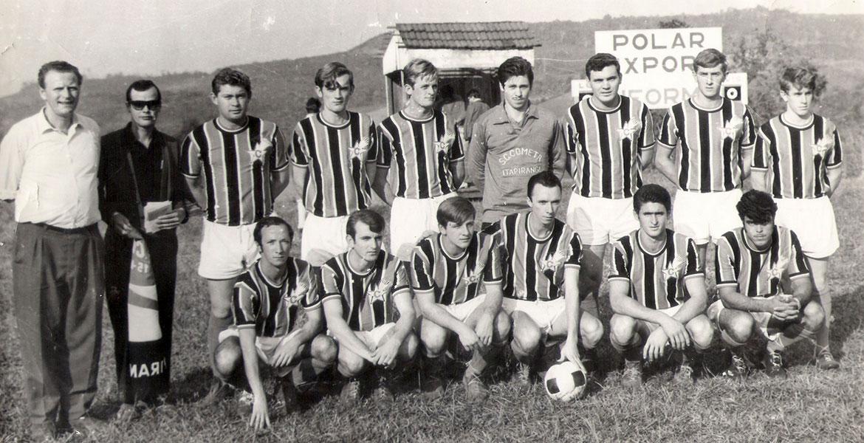 Equipe de 1961 que jogou amistosamente com o G. E. São João (veja texto acima)